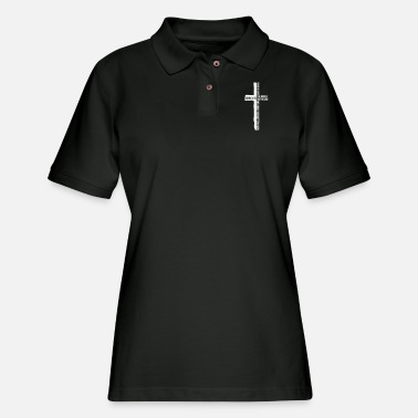 Church For God So Loved the World Cross, Christian, Faith - Women's Pique Polo Shirt