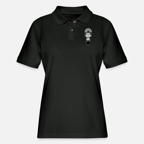 Mexico Polo Shirts - tumi - Women's Pique Polo Shirt black