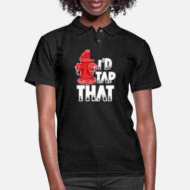 Rescue Fire Fighter I'd Tap That - Women's Pique Polo Shirt