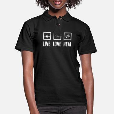 Veterinarian Live Love Heal - Women's Pique Polo Shirt