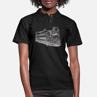 Model Railway Steam Locomotive Model Train Train - Women's Pique Polo Shirt
