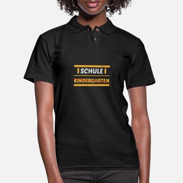 Girl School Kindergarten Orstschild Enrolment - Women's Pique Polo Shirt