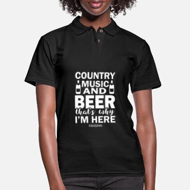 Cold Beer Country Music drinking alcohol party gift - Women's Pique Polo Shirt