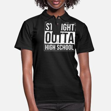 High School High School - Funny High School Graduation - Women's Pique Polo Shirt