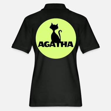 Name Day Agatha Name First name Name Motif name day - Women's Pique Polo Shirt