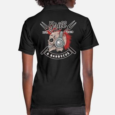 Grillwurst Grill Punk bbq barbeque gift shirt - Women's Pique Polo Shirt
