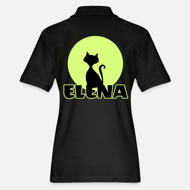 Name Day Elena Name day first name personal gift moonlight - Women's Pique Polo Shirt