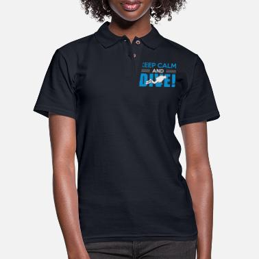 Slogan Scuba Diving Diver Funny Dive Slogan - Women's Pique Polo Shirt