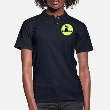 First Name Bertha name first name - Women's Pique Polo Shirt