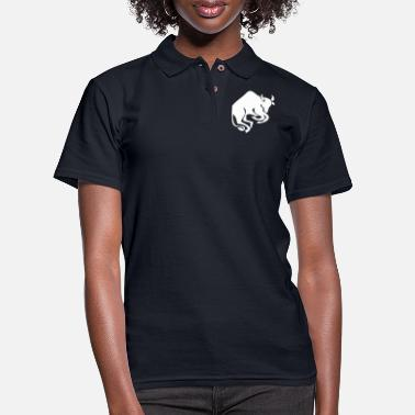 Horoscope Taurus star sign constellation with sihouette - Women's Pique Polo Shirt