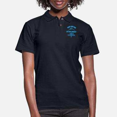 Hiker Hiking nature mountains saying gift - Women's Pique Polo Shirt