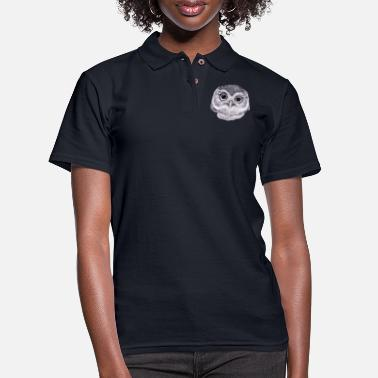 Owl Owls, Birds, Drawings, Animals, Nature, Wildlife - Women's Pique Polo Shirt