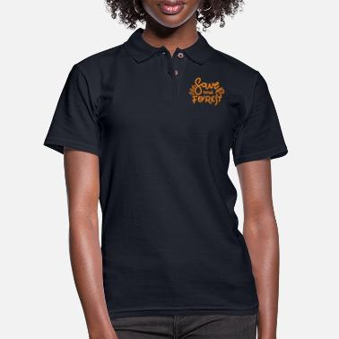 Geek Save Forest - Women's Pique Polo Shirt