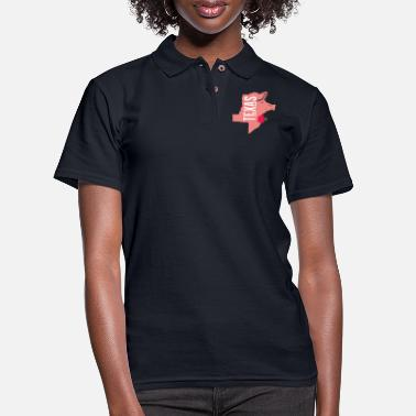 Funny Texas A funny map of Texas - Women's Pique Polo Shirt