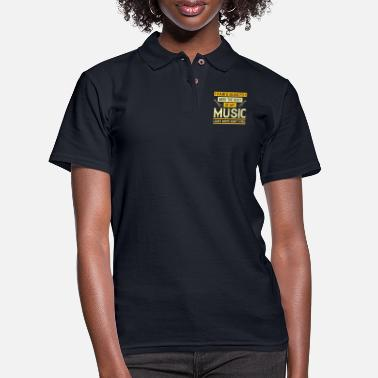 Vinyl Music - Pain's Been The Root Of My Music - Women's Pique Polo Shirt