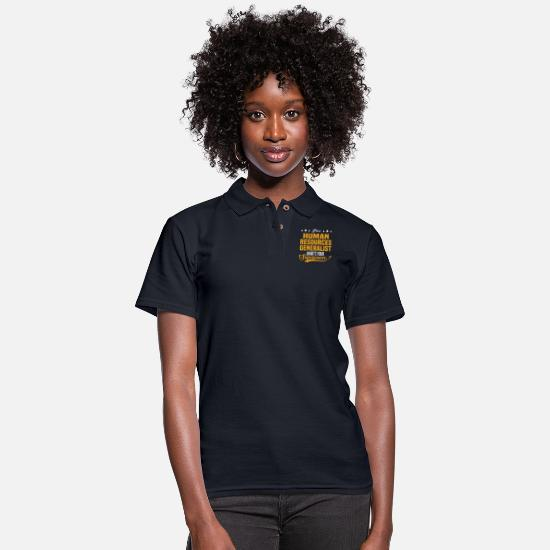 Human Polo Shirts - Human Resources Generalist - Women's Pique Polo Shirt midnight navy