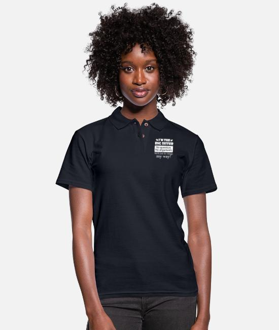 Family Polo Shirts - Big Sister No Question No Argument Just Do Things My Way - Women's Pique Polo Shirt midnight navy