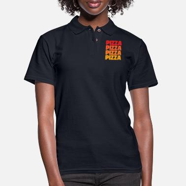 Pizza Pizza Pizza Pizza Pizza - Women's Pique Polo Shirt