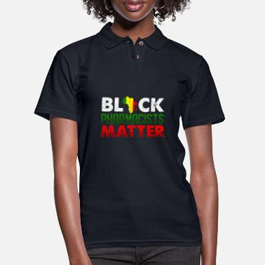 Pharmacist Black African American Pharmacist Proud Pharmacy - Women's Pique Polo Shirt
