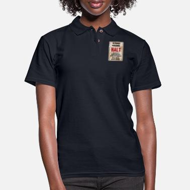 Cold War Cold War Border Sign - Women's Pique Polo Shirt