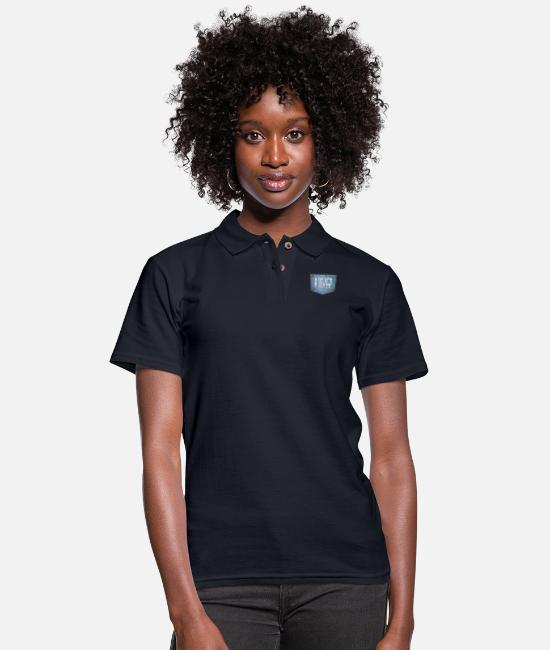 Instruments Polo Shirts - Rocker On Jeans - Women's Pique Polo Shirt midnight navy