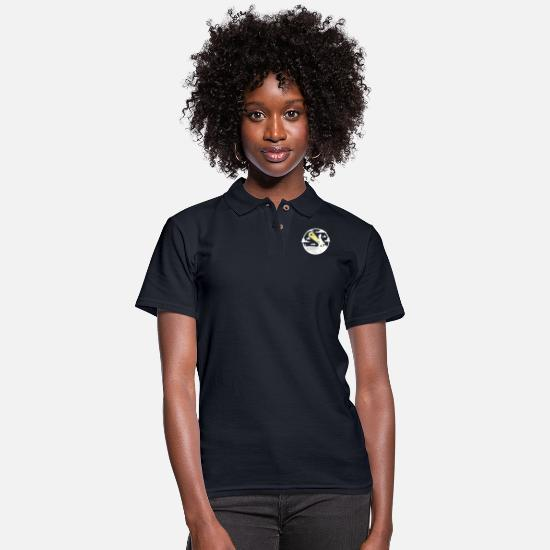 Geek Polo Shirts - The D Oh Knight - Women's Pique Polo Shirt midnight navy