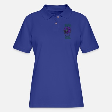 Yell REBEL YELL PURPLE AND GREEN - Women's Pique Polo Shirt