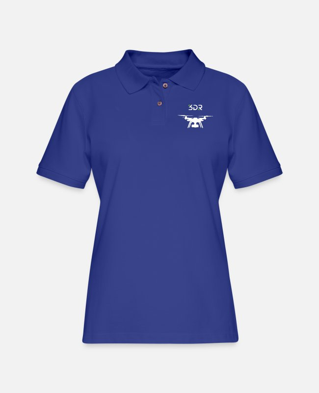 Single Polo Shirts - 3DR DRONE SOLO2 - Women's Pique Polo Shirt royal blue
