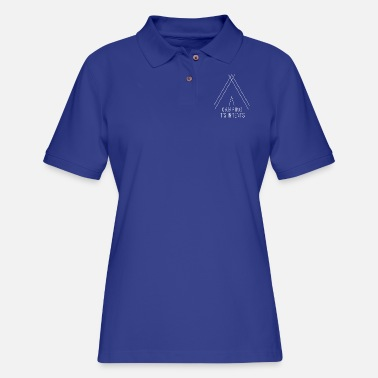 camping is in-tents white - Women's Pique Polo Shirt