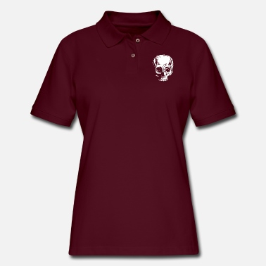 Large Large Skull - Women's Pique Polo Shirt