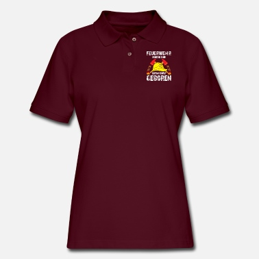 Troops volunteer fire brigade fireman deployment - Women's Pique Polo Shirt