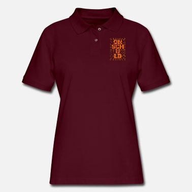 Cloud Lettering and creativity arts text quotes - Women's Pique Polo Shirt