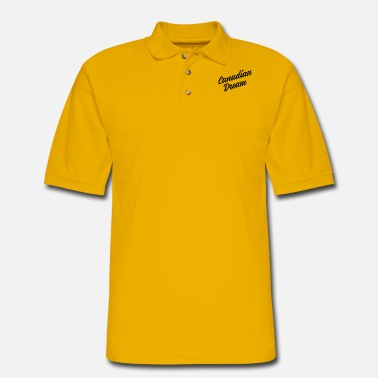 Dream Canadian Dream Stacked - Men's Pique Polo Shirt