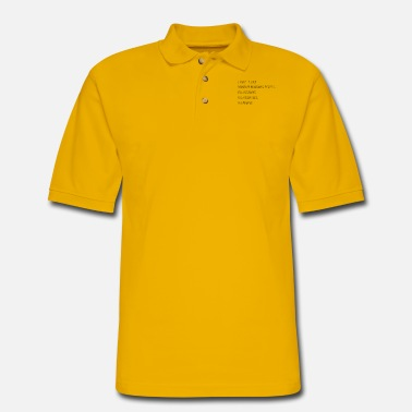 Factor B Hasse Monday morning office funny saying gift - Men's Pique Polo Shirt