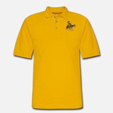 Thelwell Thelwell Two Cowboys With Their Horse - Men's Pique Polo Shirt