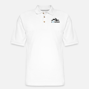 I LOVE SUSHI - Men's Pique Polo Shirt