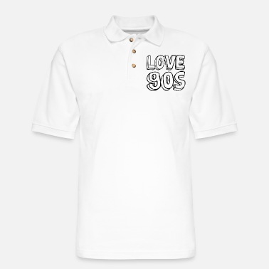 Pixel COMIC LOVE 90s 90er 1990 90 s 90ies CREATIVE OUTFI - Men's Pique Polo Shirt