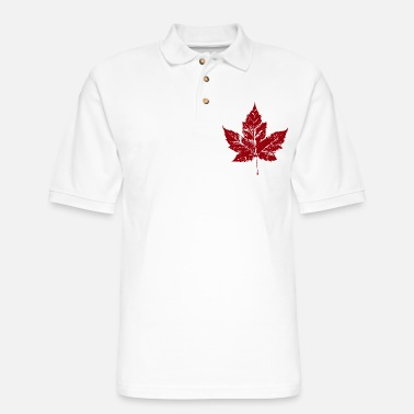 Leaf Canada Maple Leaf Souvenir Retro Distressed - Men's Pique Polo Shirt