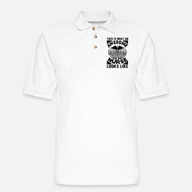 Health Awesome Nures Look Like - Men's Pique Polo Shirt
