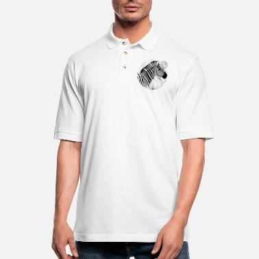 Postmark Zebra with postmark - Men's Pique Polo Shirt