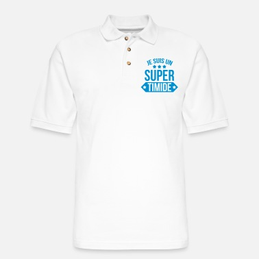Cult Je suis un super timide - Men's Pique Polo Shirt