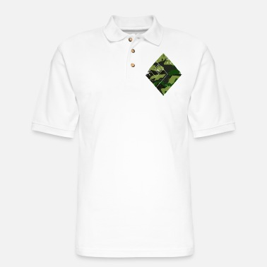 Trend Square camouflage pattern green - Men's Pique Polo Shirt