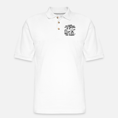 Marine I Am Comfortable With Violence If That Is What You - Men's Pique Polo Shirt