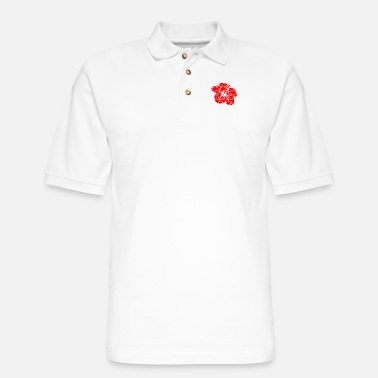 Island Classic Hawaii Hibiscus Flower - Men's Pique Polo Shirt