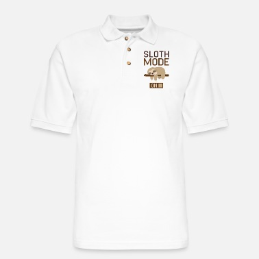 Anns Selection Sloth Mode On - Men's Pique Polo Shirt