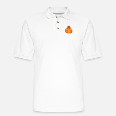 Turkey Thanksgiving pumpkin Turkey - Men's Pique Polo Shirt