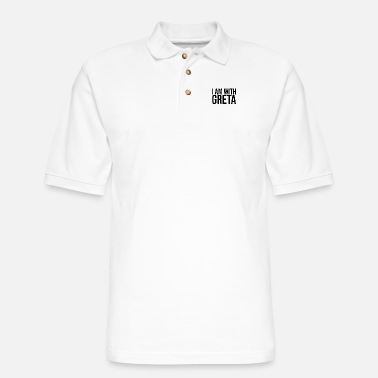 Pollution I am with Greta - Men's Pique Polo Shirt