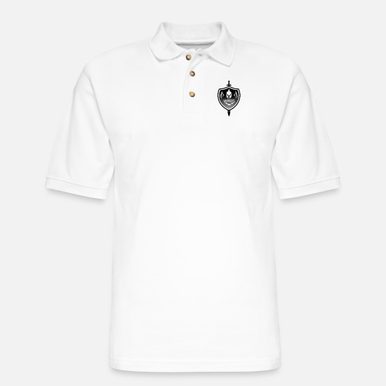 Mode Polo Shirts - Warriors - Men's Pique Polo Shirt white