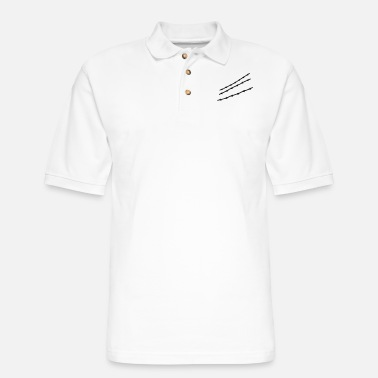 Barbed Wire barb wire - Men's Pique Polo Shirt