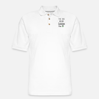Sterren The Dog Ate My Lesson Plan T Shirt - Men's Pique Polo Shirt